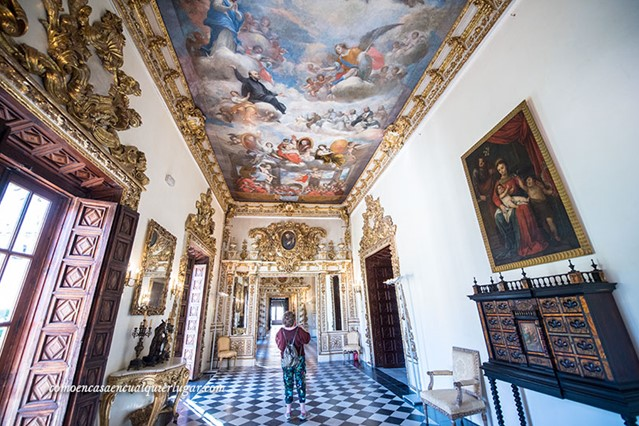 Vistas de una de las salas del Palacio Ducal de los Borja en Gandía