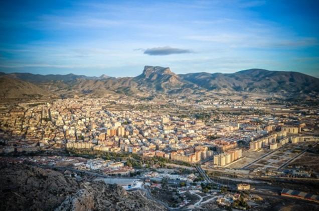 Vista general del la localidad de Elda